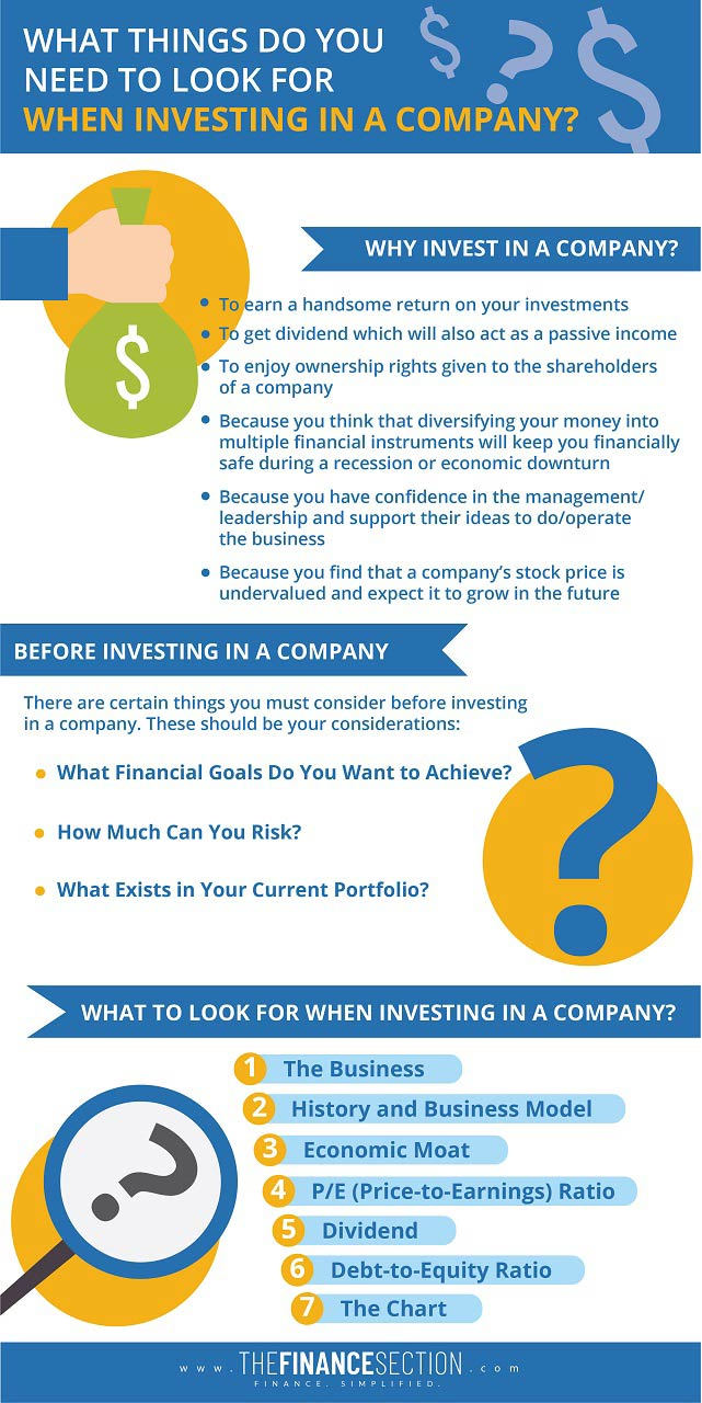 Things to consider while investing in a company